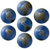 kolażu gospodarek rynki światowi Zdjęcie Stock