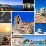 kolażu Greece wizerunków podróż Fotografia Royalty Free