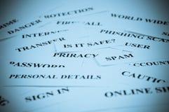 kolażu internetów ochrona obrazy stock