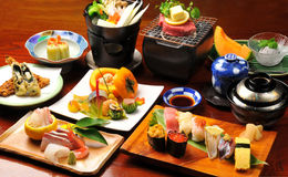 kolażu jedzenia japończyk Obrazy Royalty Free