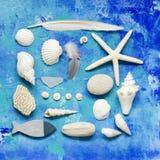 kolażu plażowy materiał zdjęcia royalty free