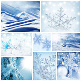 kolażu pojęcia wintertime Obrazy Royalty Free