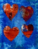 kolaży serca ilustracja wektor