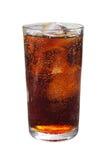 Kola avec de la glace en verre Photos libres de droits