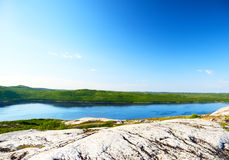 Kola bay in north of Russian Stock Image