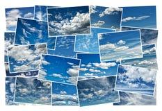 Kolaż chmury w niebieskim niebie Zdjęcie Royalty Free