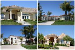 kolaż domów luksus Zdjęcia Royalty Free
