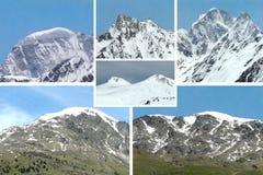 kolaż góra zdjęcie stock