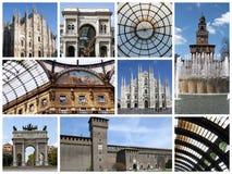 kolaż Milan Fotografia Royalty Free