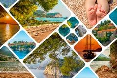 Kolaż Montenegro krajobrazu lato Zdjęcie Stock