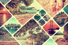 Kolaż Montenegro krajobrazu lato Obraz Stock