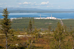 Kola nuclear power plant in the mountains Royalty Free Stock Images