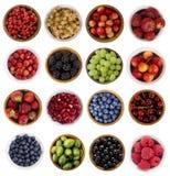 Kolaż owoc i jagody Zdjęcie Royalty Free