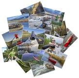 Kolaż paddling obrazki od Kolorado Zdjęcia Stock