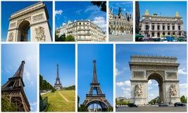 Kolaż Paris fotografie inkasowe Zdjęcia Royalty Free