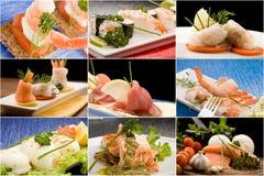 kolaż ryba Obraz Royalty Free