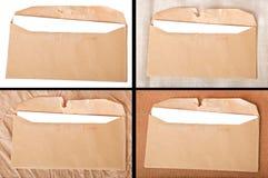Kolaż stara pocztowa koperta Fotografia Stock