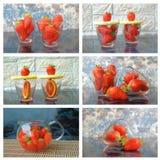 kolaż truskawki Fotografia Stock