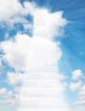 kolażu drzwiowy drabinowy nieba schodek Zdjęcie Stock