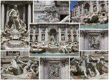 kolażu fontanny trevi Obraz Stock