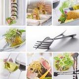 kolażu jedzenie Obrazy Royalty Free