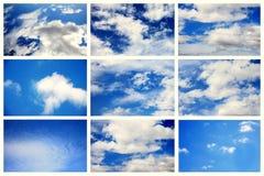 kolażu niebo Zdjęcie Royalty Free