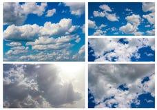 Kolażu niebo Fotografia Stock