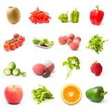 kolażu owoc warzywa Zdjęcia Stock