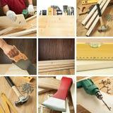 kolażu woodwork Zdjęcie Stock