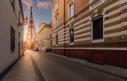 Kolaż ulica w gliwice i Radiostation Fotografia Royalty Free