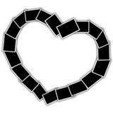 Kolaż w formie serca obraz royalty free