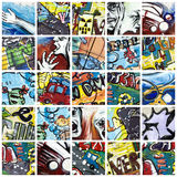 kolaży graffiti obraz royalty free