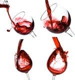 kolaży kieliszków wina Fotografia Stock