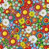 kolaży kwiaty Obrazy Royalty Free