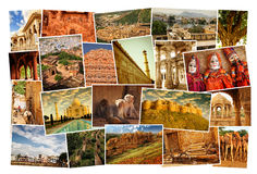 Kolaży obrazki Rajasthan, India Obrazy Stock