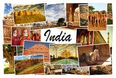 Kolaży obrazki Rajasthan, India Zdjęcia Royalty Free