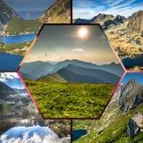 Kolaż Zakopane gór park narodowy w polonach Zdjęcie Royalty Free