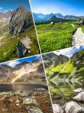 Kolaż Zakopane gór park narodowy w polonach Obrazy Royalty Free