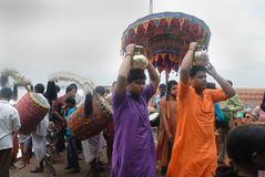 The Kolabau ritual at the river Ganga Royalty Free Stock Photography
