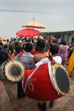 The Kolabau ritual at the river Ganga Royalty Free Stock Images