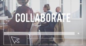 Kolaboruje partnerstwo zgody rozwiązania strategii pojęcie obraz royalty free