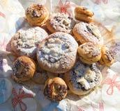 Kolace - χαρακτηριστική παραδοσιακή γλυκιά ζύμη από την Τσεχία στοκ εικόνες