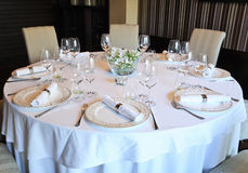 kolacja fantazji zestawy stół Obraz Stock