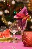 kolacja luksusu zestawy stół Zdjęcia Stock