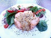 kolacja łososia faszerowane fotografia royalty free