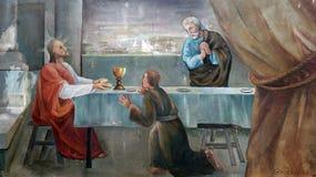 Kolacja przy Emmaus zdjęcie royalty free