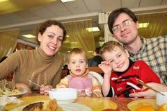 kolacja rodzinna hotel Zdjęcia Royalty Free