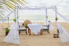 kolacja romantyczne miejsce Zdjęcie Royalty Free