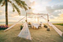 kolacja romantyczne miejsce Obraz Royalty Free