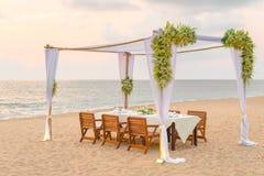 kolacja romantyczne miejsce Obraz Stock